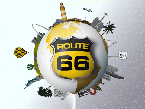 ROUTE 66 RV Network logo